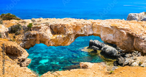 Cyprus island - amazing rocky bridge famous as