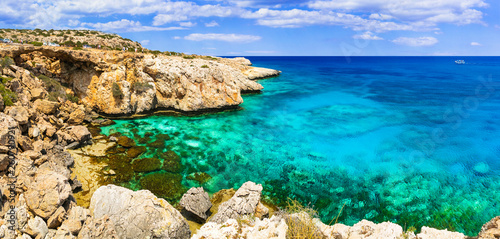 Cyprus island. Outstanding beauty and cystal clear sea, Cape Greco bay