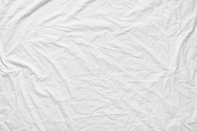 White Fabic Texture Wrinkled T...