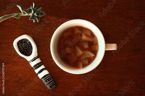Foto op Plexiglas Chocolade cup of something