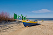 On the beach, before dawn, Baltic Sea, Jantar, Poland
