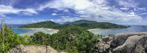Panoramic view at John-Suwan Viewpoint Fotobehang