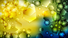 Yellow Green Pattern Background