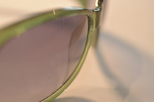 Sunglasses With Green Rim