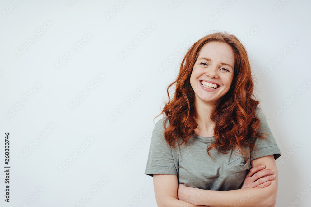 Fototapety, obrazy: Relaxed confident friendly young woman