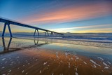 Fototapeta Morze - Wharf de la Salie, Coucher de soleil