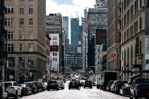 Staande foto New York TAXI Lafayette Street view of Chinatown in Lower Manhattan