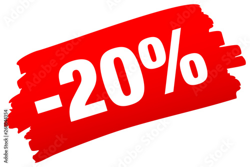 Photo Pinselstrich -20% Rot