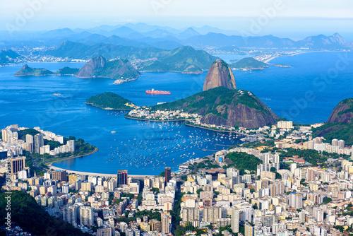Canvas Prints Rio de Janeiro The mountain Sugarloaf and Botafogo in Rio de Janeiro, Brazil