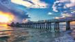 Naples pier at sunset, Florida