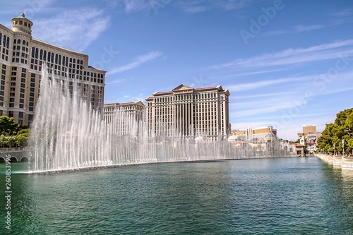 Poster de jardin Las Vegas Gorgeous Bellagio Fountains Las Vegas Strip - Las vegas Strip Hotel. USA. Las Vegas.