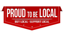 Proud To Be Local Banner Design