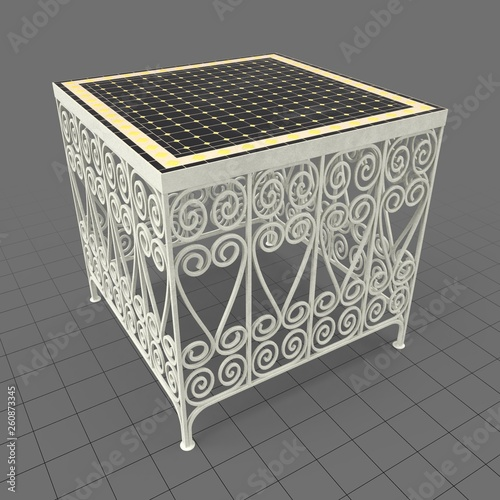 Moroccan wrought iron table  Buy this stock 3d asset and
