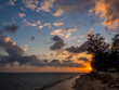 Beautiful, multi-colored clouds at sunset. Ko Phangan.Thailand.