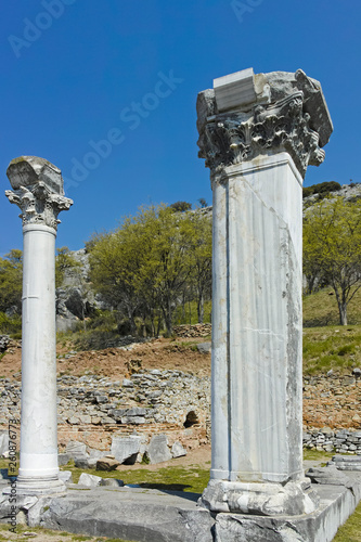 Fotografia  Ruins of the Antique city of Philippi, Eastern Macedonia and Thrace, Greece