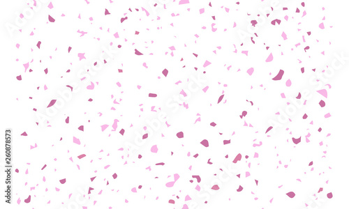 Obraz Vector seamless terrazzo pattern. Marble mosaic flooring with natural stones, granite, concrete. Light pink background. Pastel colors - fototapety do salonu