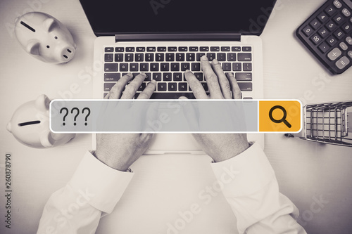 Fotografie, Obraz  Question Mark Asking Confusion Thought Help FAQ Business Search