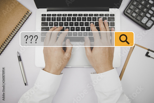 Fotomural  Question Mark Asking Confusion Thought Help FAQ Business Search