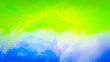 Leinwanddruck Bild - Blue Sky Green Background