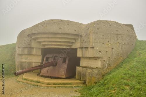 Fotografie, Obraz  Cañon alemán en Normandía