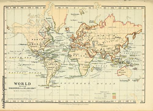 Stara mapa Grawerowanie obrazu