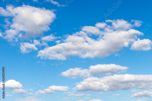 Canvas Prints Heaven blue sky and white clouds