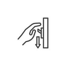 Switch Off After Use Line Icon...
