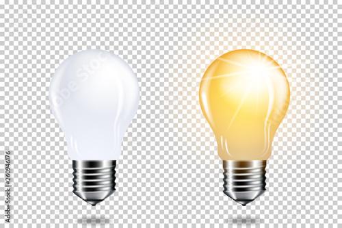 set of light bulbs Wallpaper Mural
