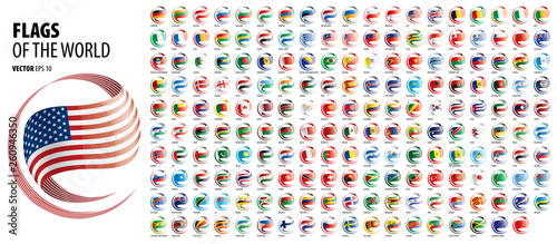 Carta da parati  National flags of the countries