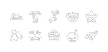 Simple Gray 10 Vector Icons Se...