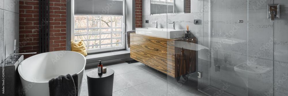 Fototapety, obrazy: Industrial style bathroom