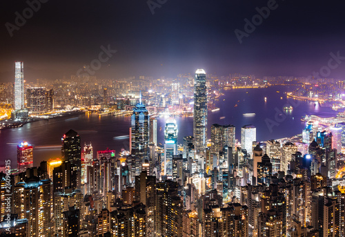 Photo  世界三大夜景 香港 ビクトリア・ハーバー