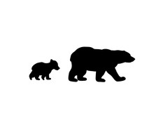 Bear Family Black Silhouette A...
