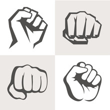 Vector Hands Icon Set. Differe...