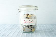 Saving Jar With Coins