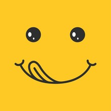 Yummy Smile On Yellow Backgrou...