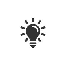 Light Bulb Icon In Simple Design