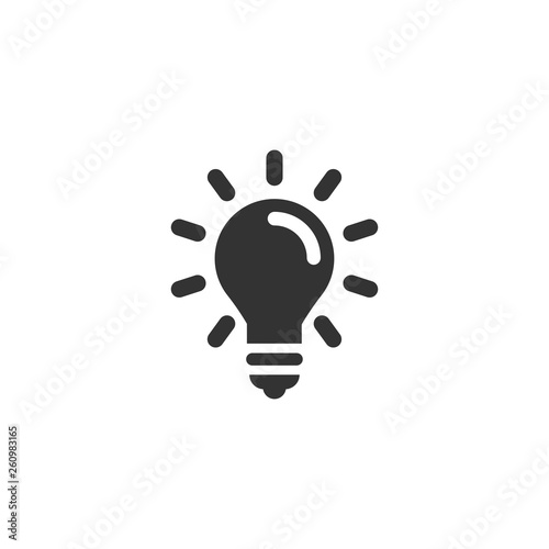 Light bulb icon in simple design Canvas Print