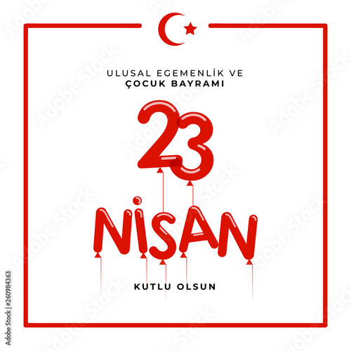 Fotografia  23 april national sovereignty and children's day in Turkey Vector Illustrations