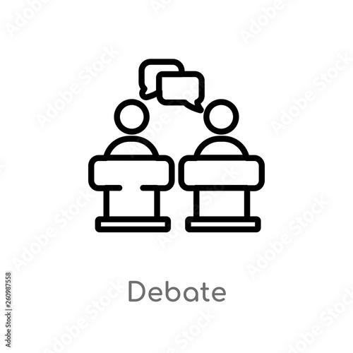 Cuadros en Lienzo  outline debate vector icon