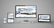 canvas print picture - responsive devices isolated responsive design homepage mountain