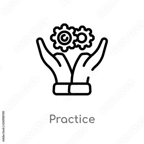 Fotografía  outline practice vector icon