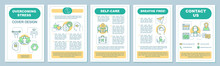 Stress Overcoming Brochure Template Layout