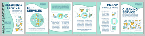 Cleaning service brochure template layout