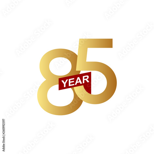 Fotografia  85 Years Anniversary Vector Template Design Illustration