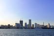 Modern scenery of port town Yokohama