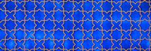 Seamless Mosaic Blue Tiled Ara...