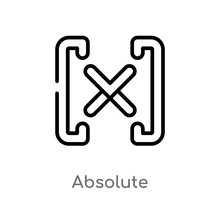 Outline Absolute Vector Icon. ...