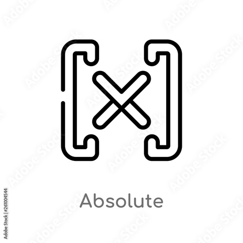 outline absolute vector icon Canvas Print