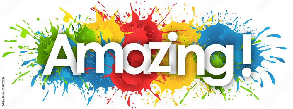 Fototapety, obrazy: amazing word in splash's background